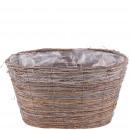 Plant bowl Esira, L45cm, W32cm, H25cm, natural
